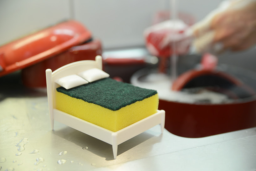 ototo clean dreams sponge holder designboom