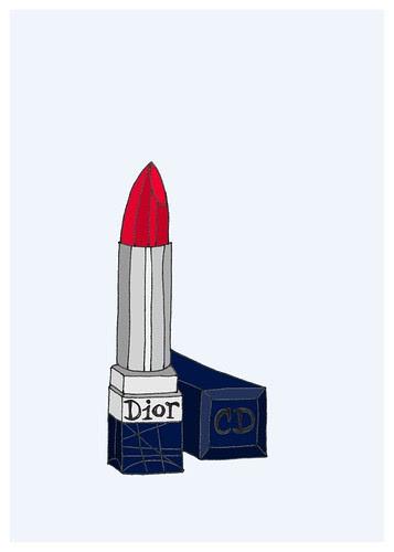 dior lipstick 5x7
