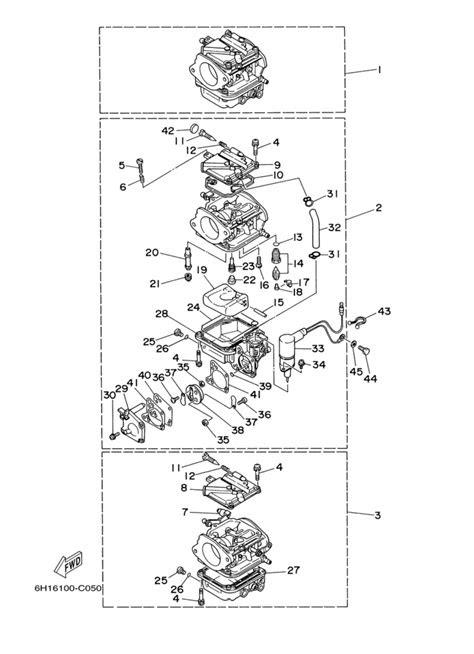 2005 Yamaha Carburetor Parts for 90 hp 90TLRD Outboard Motor