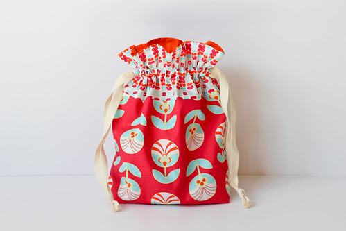 Color Me Retro Drawstring Bag by Jeni Baker