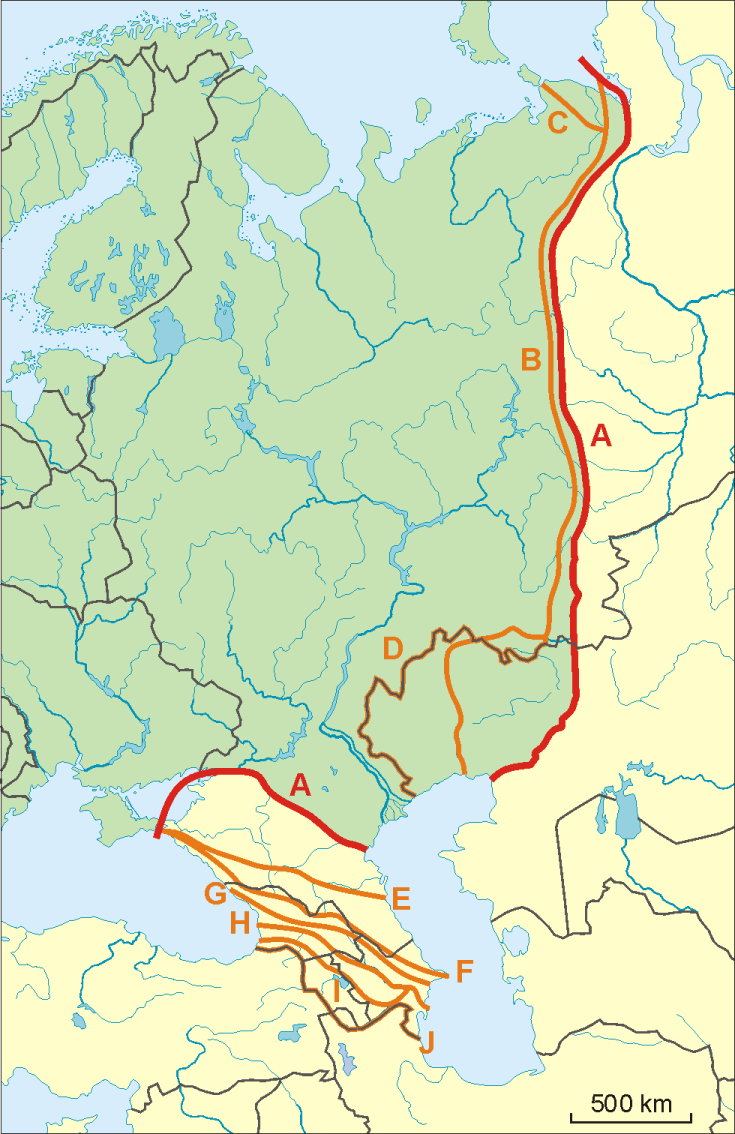 Uralgebirge Karte.26 Frisch Grenzen Europas Karte