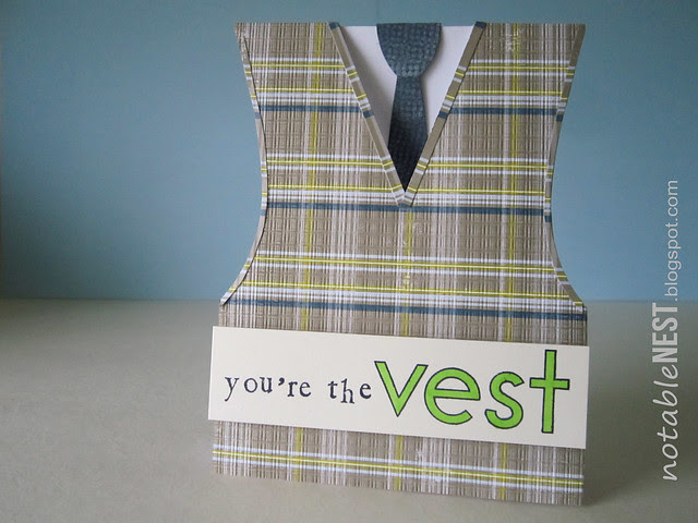 Fathers Day Plaid Vest Dad Card
