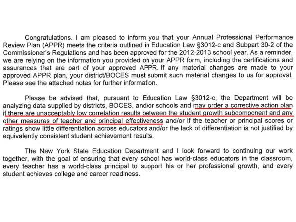 NYSED Letter