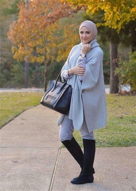 dress hijab  sepatu boot bikin kamu tambah modis ide