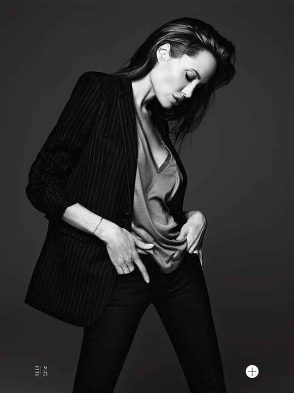 Angelina Jolie by Hedi Slimane Elle US 11