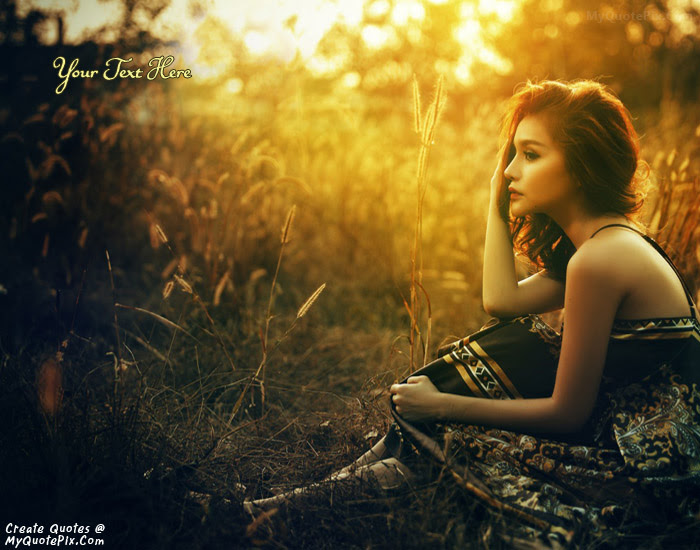 Write Quote On Sad Beauty Girl Picture