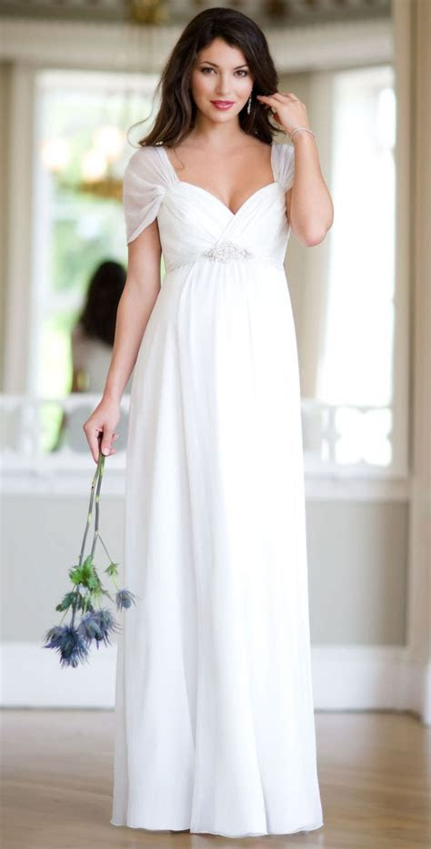 silk sophia maternity wedding gown ivory  tiffany rose