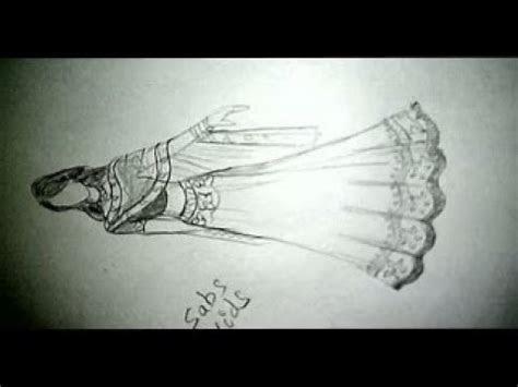 How to draw Indian wedding dress.fashion Illustration