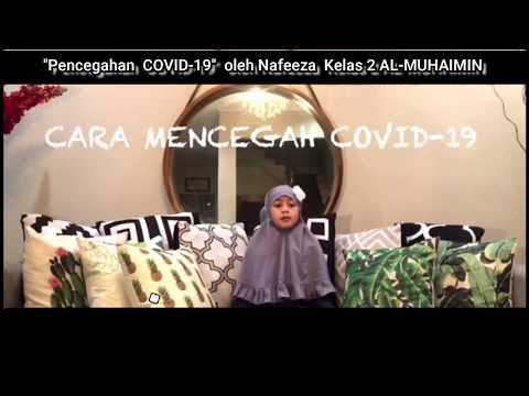 Kampanye Pencegahan COVID 19 oleh Nafeeza Kelas 2 Al Muhaimin