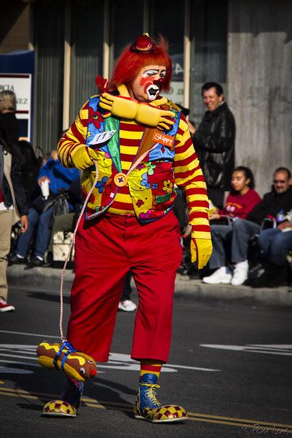 Downey Christmas Parade 2013 clown