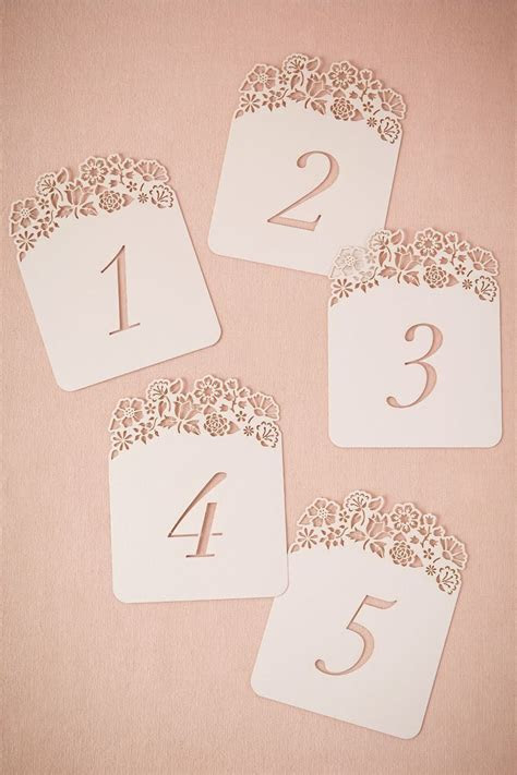 Hilltop Table Number Cards (5) from BHLDN  can hole punch