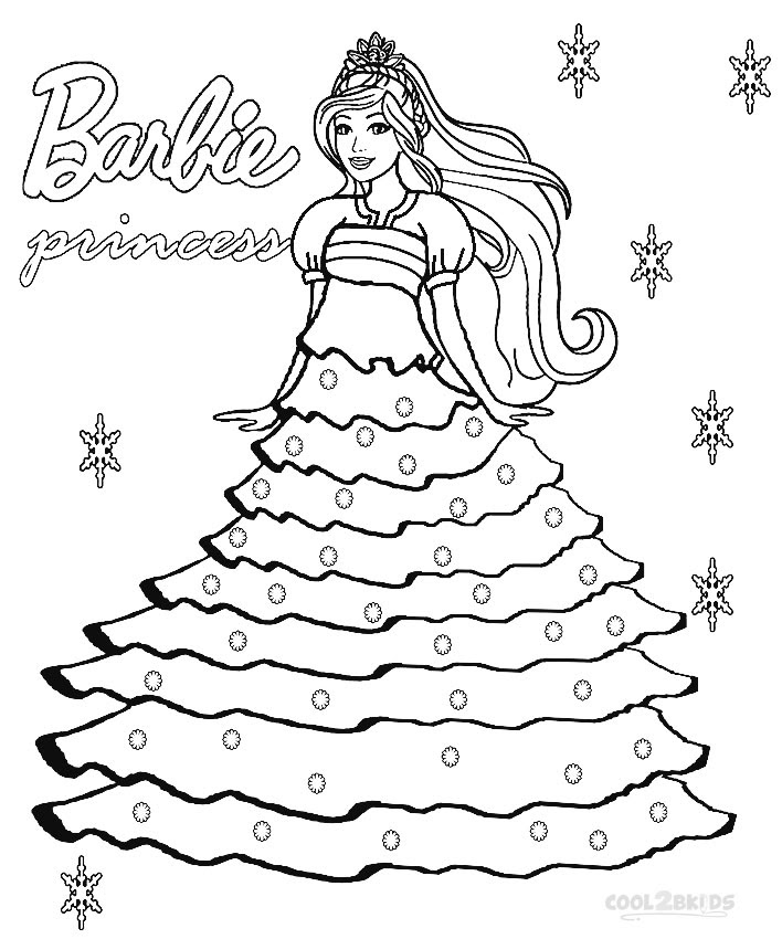 Easy Barbie Coloring Pages at GetDrawings | Free download