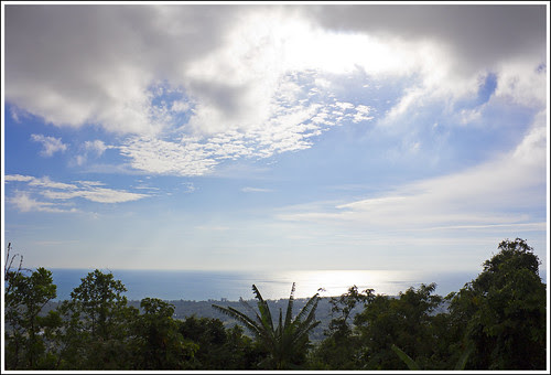 View west over the sea from Phuket Weather Station