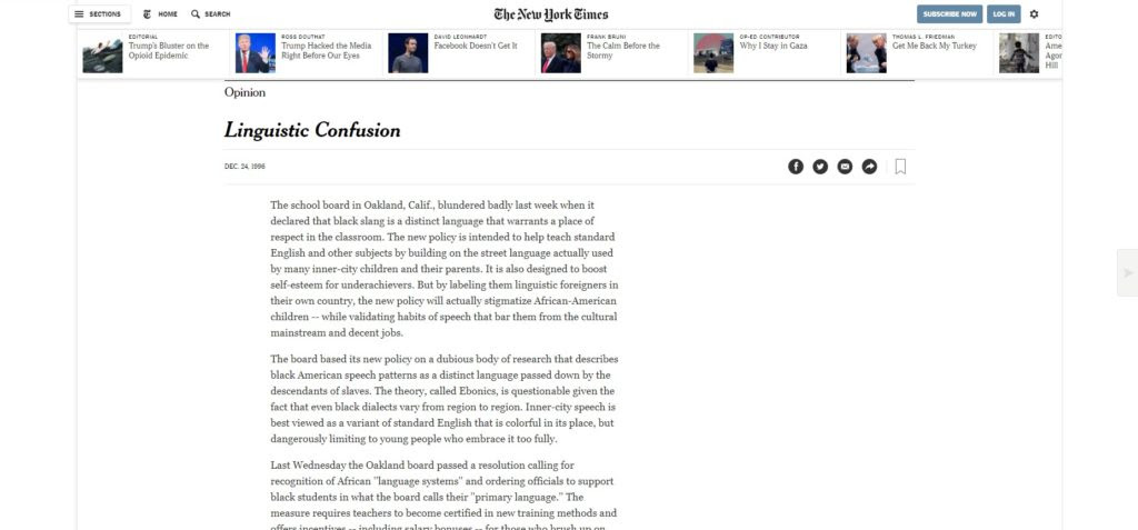Linguistic Confusion The New York Times