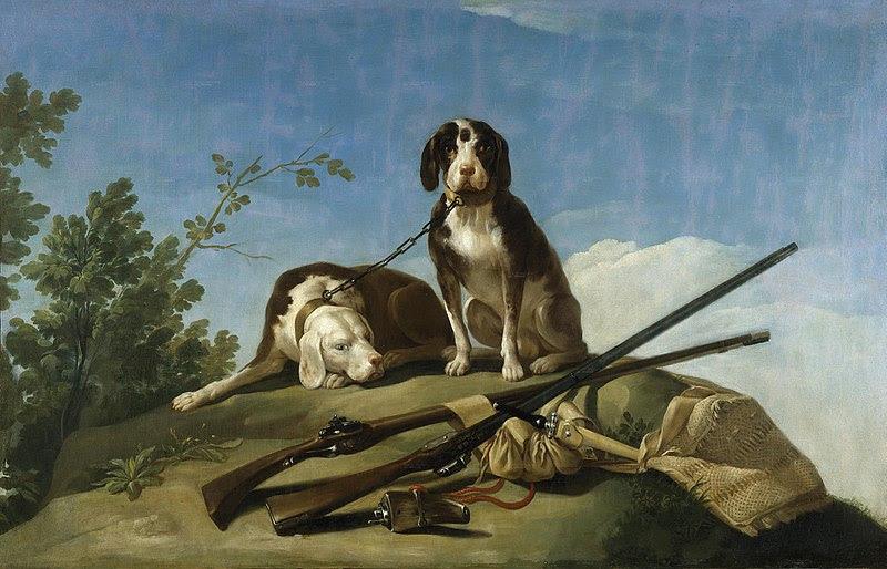 File:Perros y útiles de caza.jpg