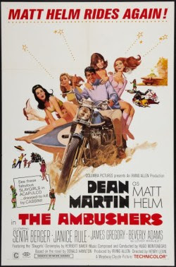 The Ambushers US one sheet movie poster (1967). Art by Robert McGinnis