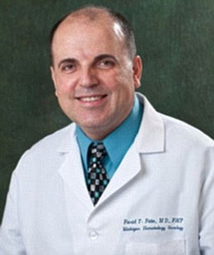 Imprisoned: Dr Farid Fata (pictured) - who netted millions of dollars by putting 550 patients through unnecessary cancer treatments and then billing their insurers - has been sentenced to 45 years in prison