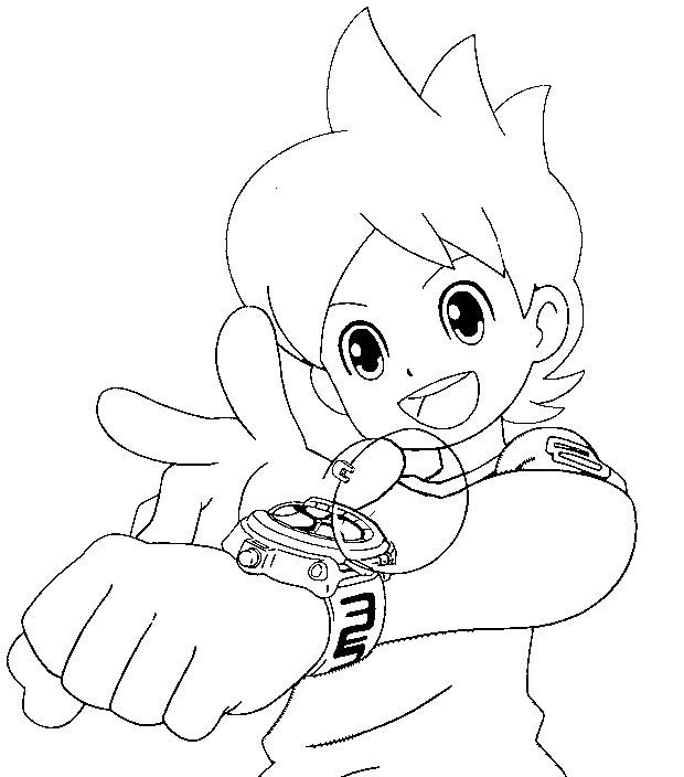 Coloriages Yo Kai Watch Bonjour Les Enfants