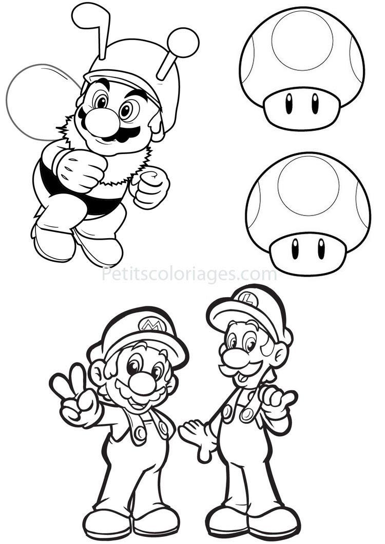 Nouveau Coloriage Mario Et Luigi A Imprimer Gratuit   Imprimer et Obtenir une Coloriage Gratuit Ici