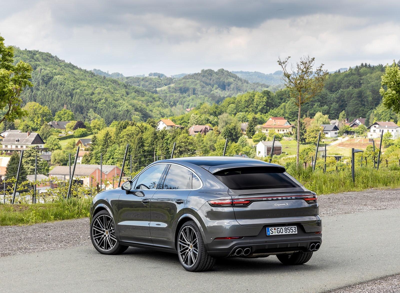 2020 Porsche Cayenne S Coupe Color Quarzite Grey Metallic Rear Images, Photos, Reviews