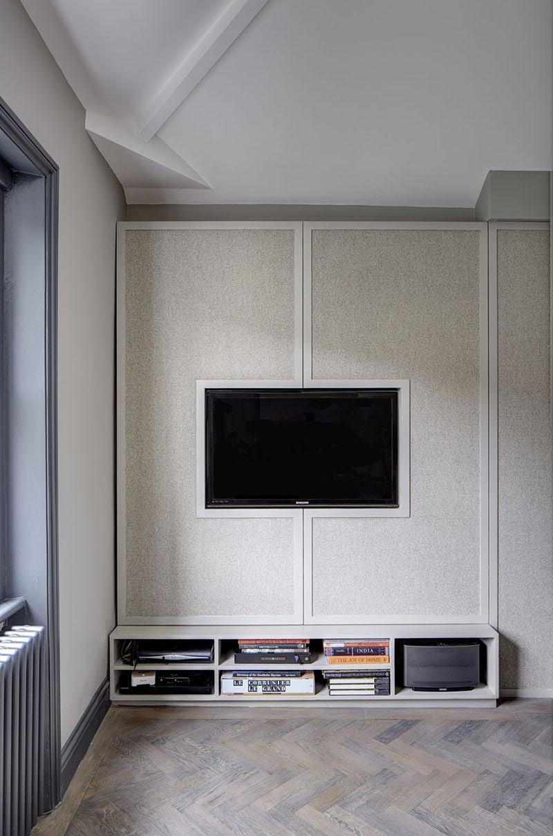 Tv Wall Design Idea Hide Shelves With Large Custom Made