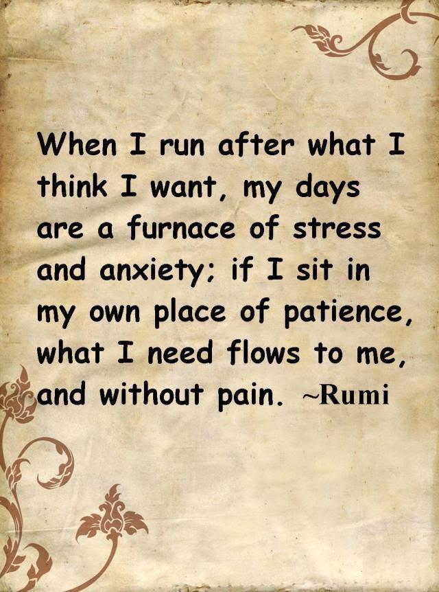 Rumi Quotes On Patience. QuotesGram