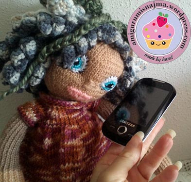 knitted doll muñeca tejida tricot  najma08