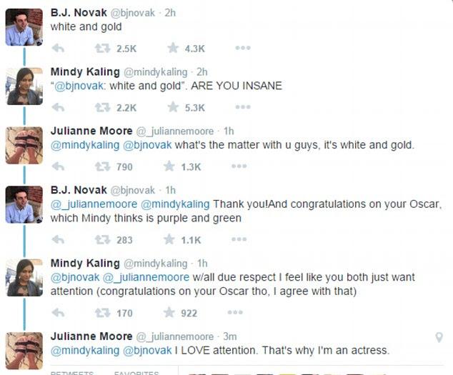 Star power: Celebrities including Mindy Kaling, B.J. Novak and Oscar-winner Julianne Moore join the debate