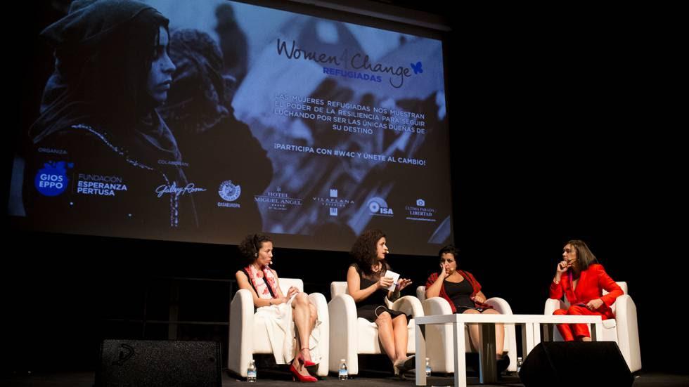 Un momento en el debate del congreso Women4Change, celebrado en Madrid.
