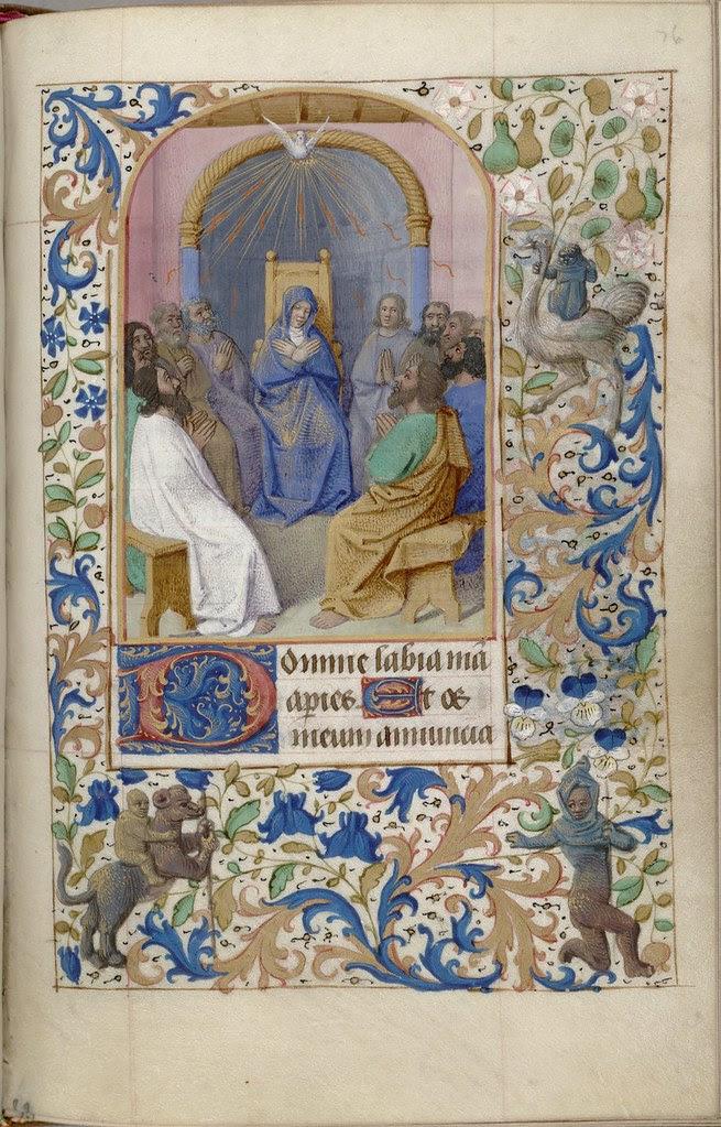 religious miniature from Christian Evangelist manuscript