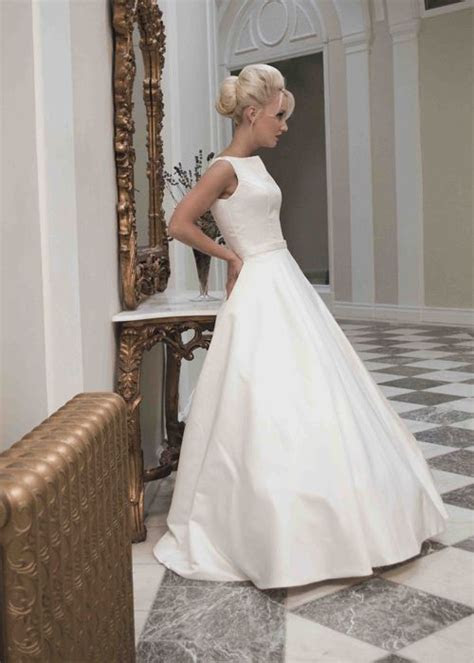 Best 25  Satin wedding dresses ideas on Pinterest   High