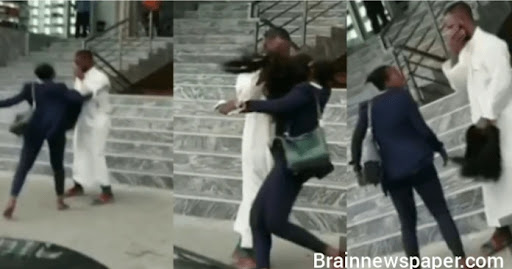Lady Beats Up Skit-Maker, Who Removed Her Wig In Public (Video)