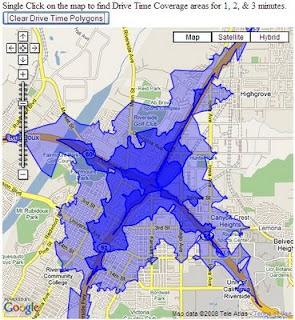 ESRI Google Maps API DriveTime