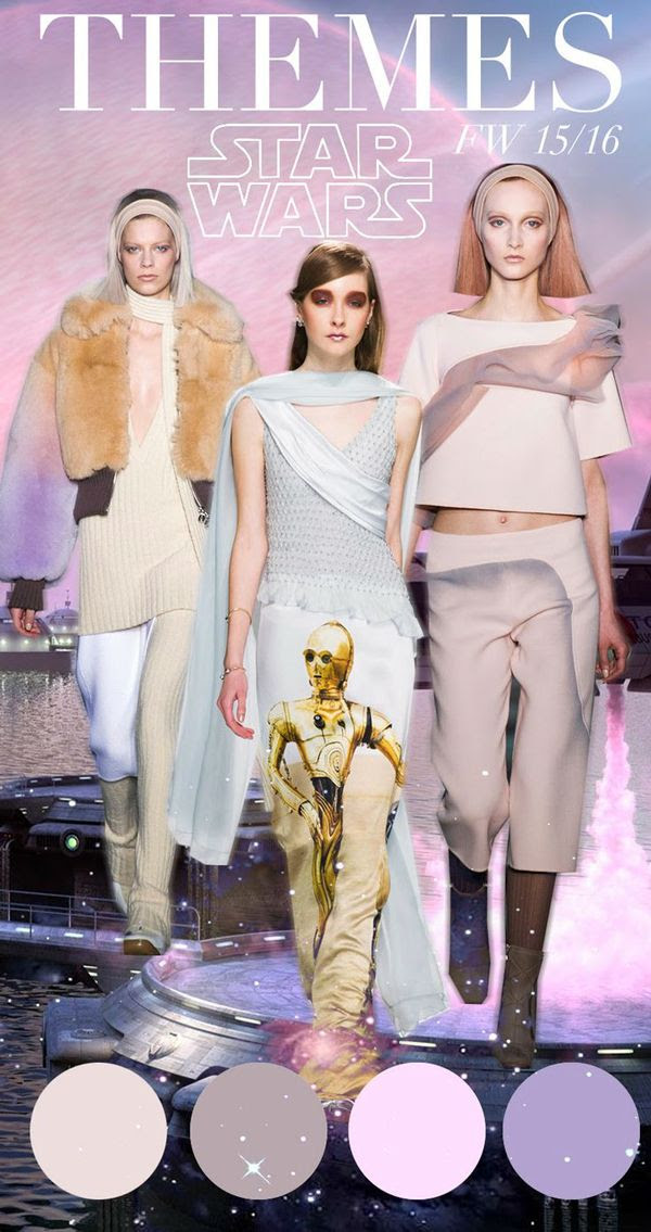 Star Wars: dominant futuristic fashion theme forecast and influence 2015 - 2016 Trend Council. #DORLYDESIGNS #fashion #style #preview #predictions. DORLY DESIGNS: Trend Forecast 2015/2016: The New Lows Of High Fashion?