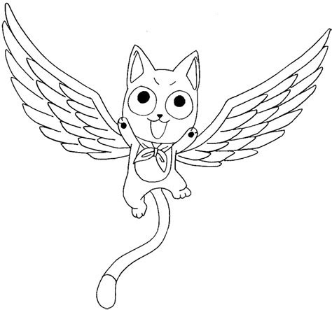 draw exceed happy  fairy tail  easy anime