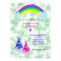 Rainbows and Party Hats Personalized Invites