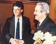 L'ex ministro della giustizia Claudio Martelli e Giovanni Falcone