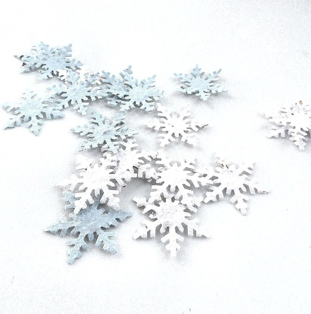plantable snowflake confetti, winter wedding favors or table decorations