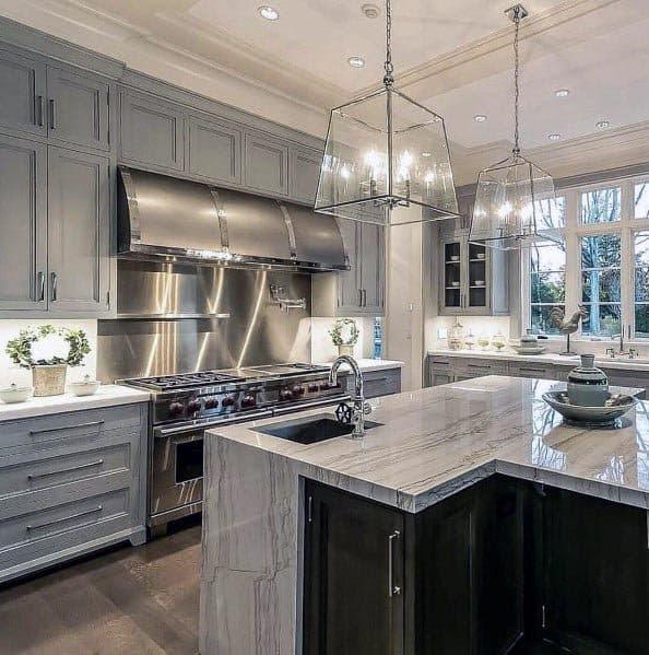 Top 50 Best Grey Kitchen Ideas Refined Interior Designs