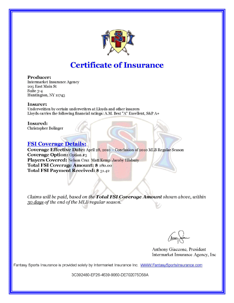 Additional Insured - Business Insurance Certificate ...