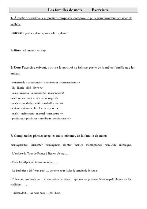Rodzina wyrazów - ćwiczenie - Francuski przy kawie