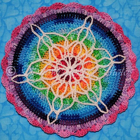 Wink and a Prayer Snowflake Mandala