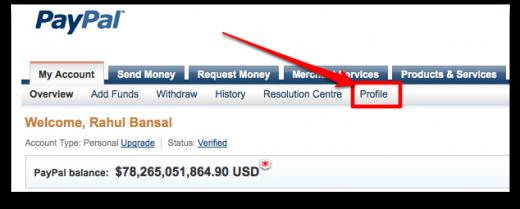 Rahul Bansal s PayPal Account2 520x209
