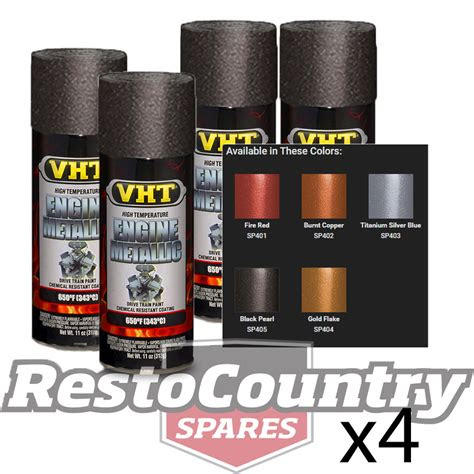vht high temperature spray paint engine metallic black pearl  starter diff vht spray paint