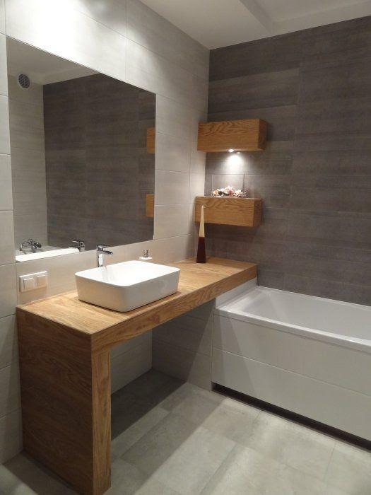 Marzena Z - galeria - drewniany blat pod umywalkę oraz ...