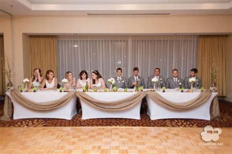 Burlap Head Table Decor   The Whimsical Wedding
