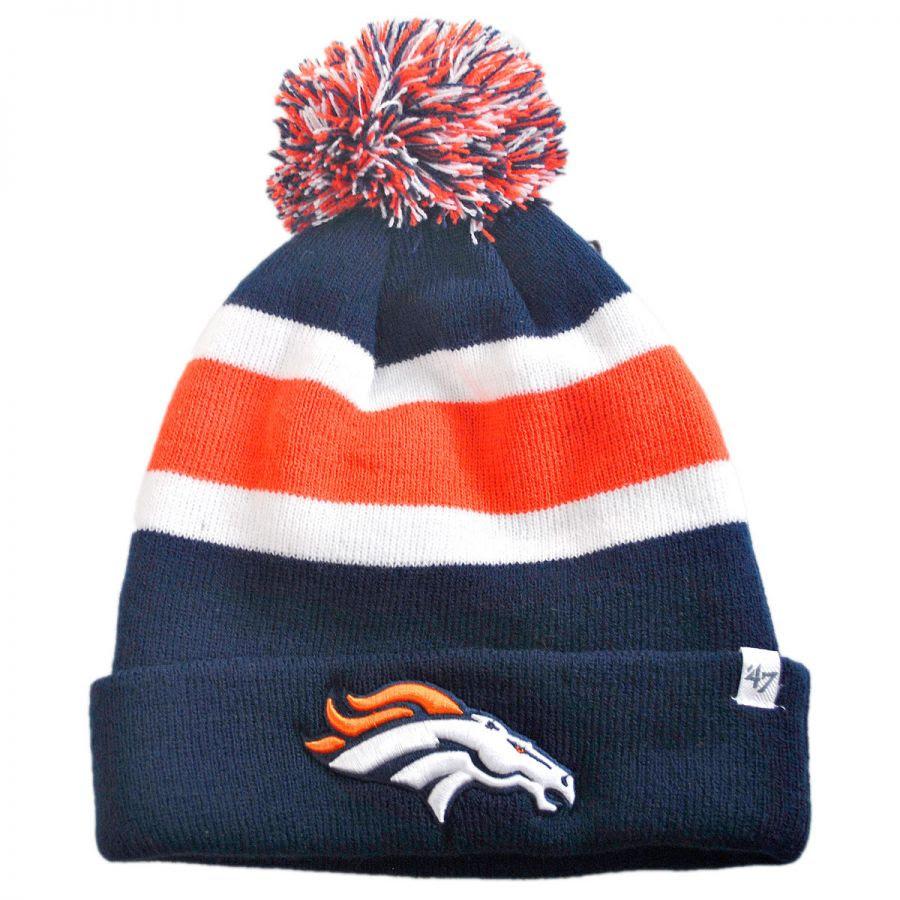 47 Brand Denver Broncos NFL Breakaway Knit Beanie Hat NFL Football Caps