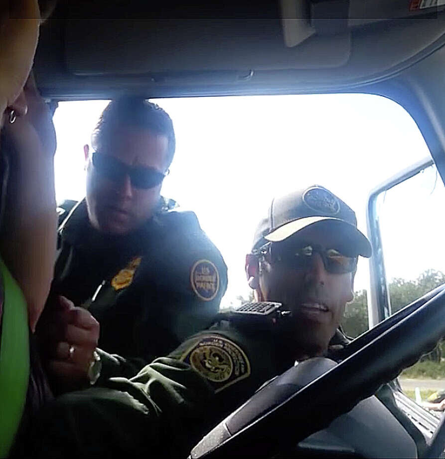 Youtube frame grab of video recorded by people going through Border Patrol checkpoints several miles inside the United States. These individuals had not left the country. This man was forcibly removed from his vehicle while refusing to answer questions. Photo: Youtube.com / Youtube.com