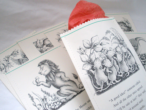 Handmade Gift Bags from Vintage Children's Books