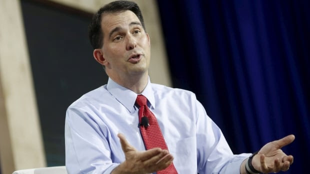 Wisconsin governor and Republican candidate for U.S. president Scott Walker says the prospect of building U.S.-Canada border wall is a legitimate idea worth exploring.